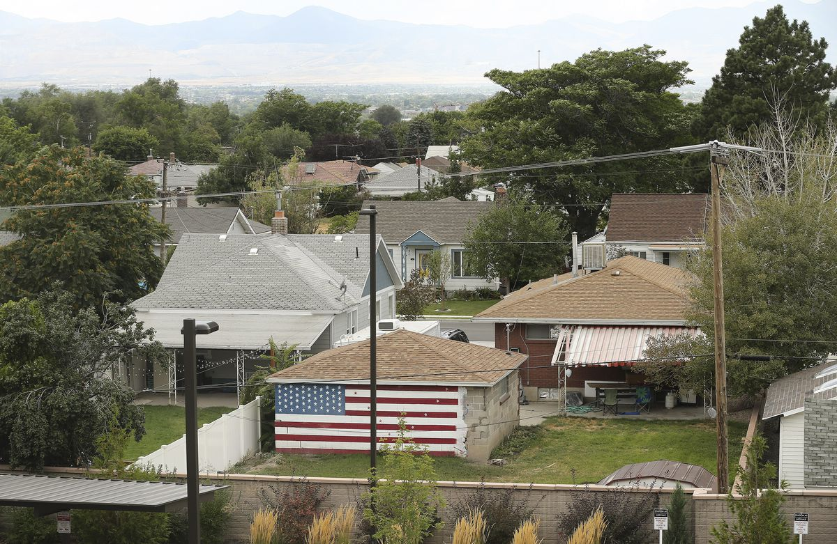 The view from Carlos Moreno's window in Midvale on Monday, Sept. 9, 2019.