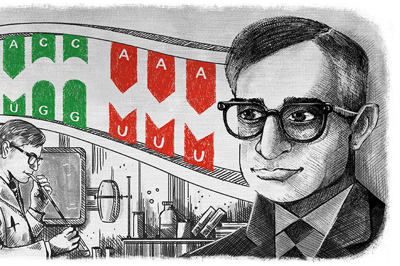 today s google doodle honors a nobel prize winning dna researcher