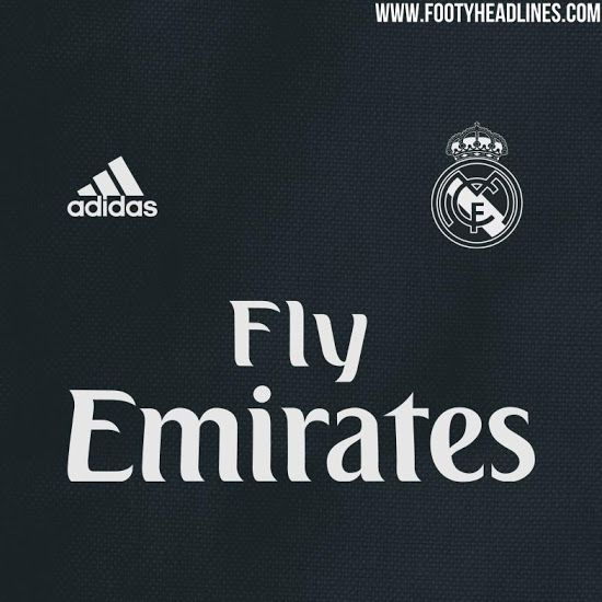 2f3fcbc65 FootyHeadlines also leaked the color scheme for Madrid s home and away kit  and it looks like navy blue will disappear in favor of some black for the  Fly ...