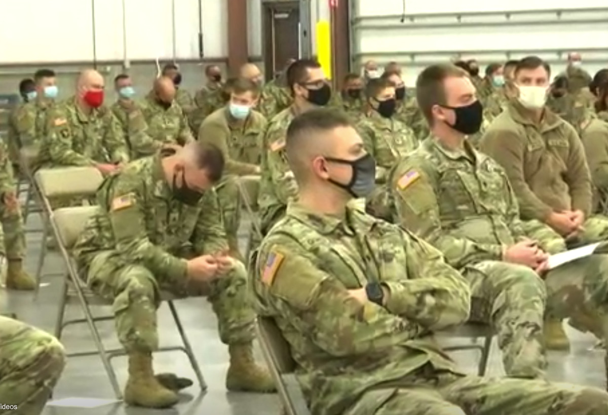 Indiana National Guard troops train to work in nursing homes combatting the coronavirus.