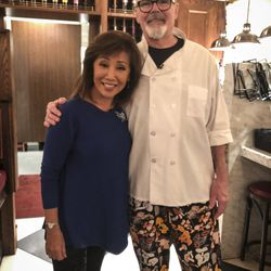 Linda Yu with pizza chef Mike Clark at LaBriola Ristorante in Chicago. | Sun-Times Staff