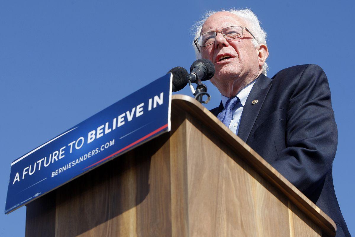 "Sen. Bernie Sanders is listed as a ""Progressive endorsed independent."""