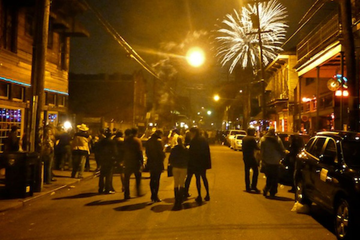 New Year's Eve on Frenchmen Street.