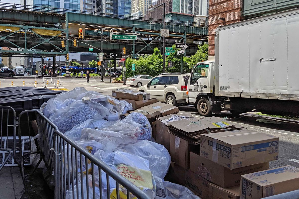 Queens Plaza Garbage