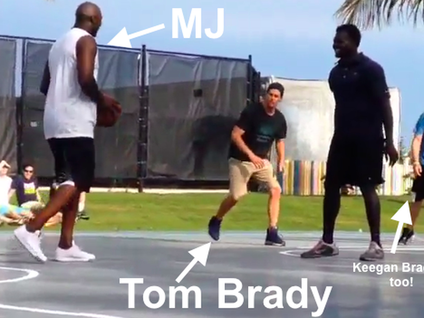 5814cb194323 Michael Jordan played pick-up basketball with Tom Brady