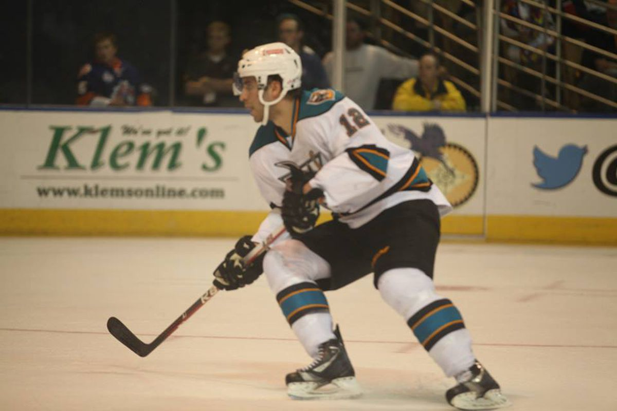 Worcester Sharks second year forward Freddie Hamilton scored the lone Sharks goal in an embarrassing 7-1 home loss to the Bridgeport Sound Tigers Friday night.