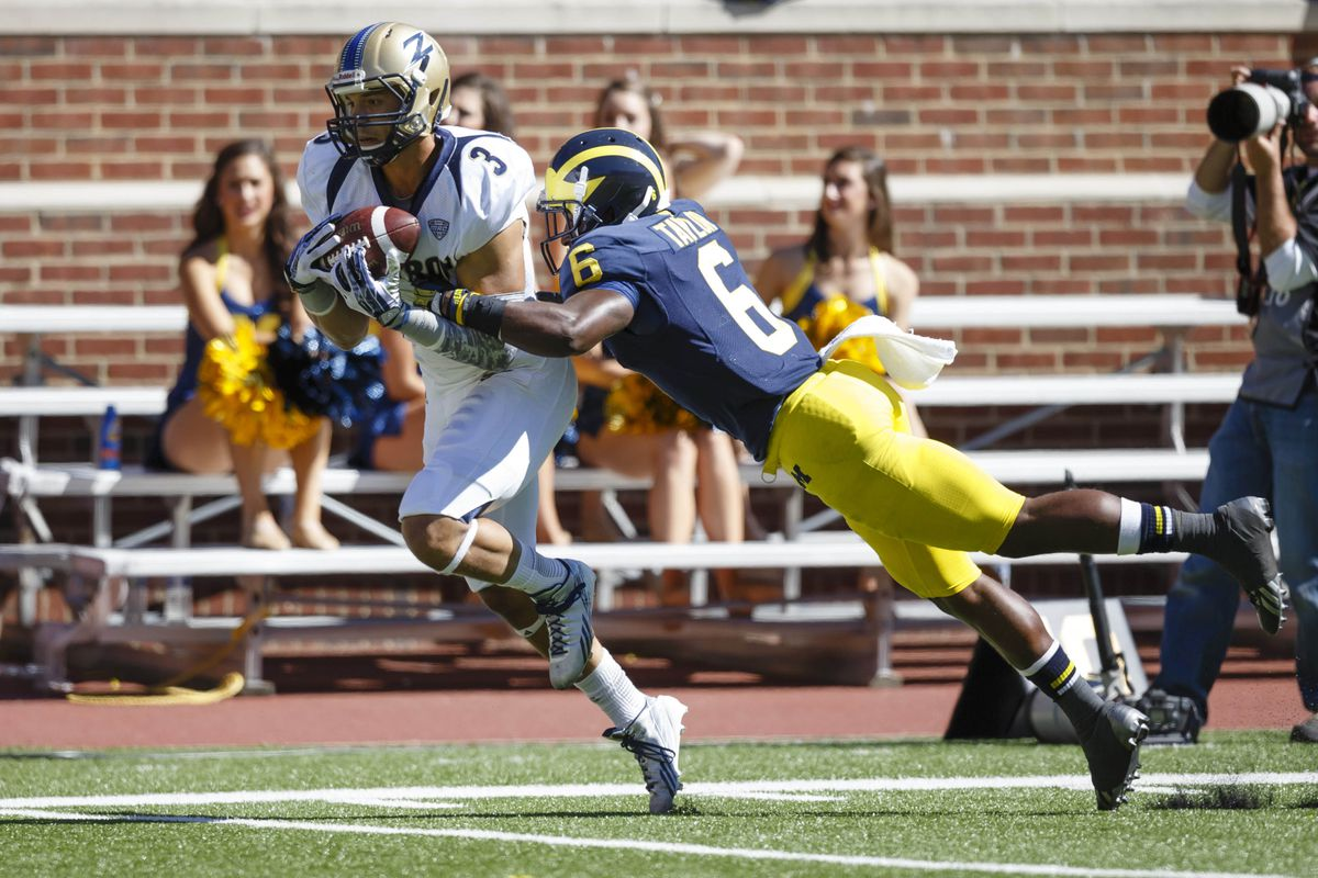 Akron gave Michigan all they could handle, but the Wolverines were able to avoid the upset