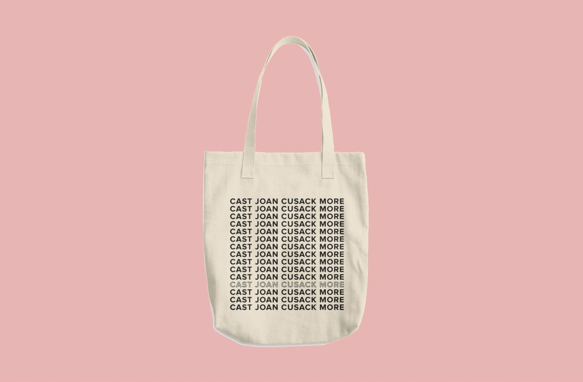 """Thnk 1994 """"Cast Joan Cusack More"""" Tote, $29"""