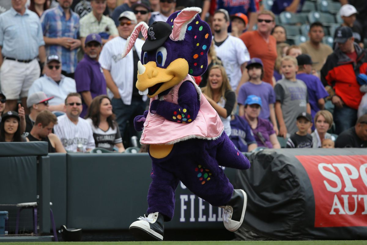 Owait there's Dinger/He's such a little tool/A purple horn sack fulla nightmarish fuel.