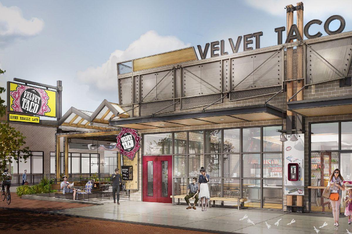 Rendering of Velvet Taco in The Domain