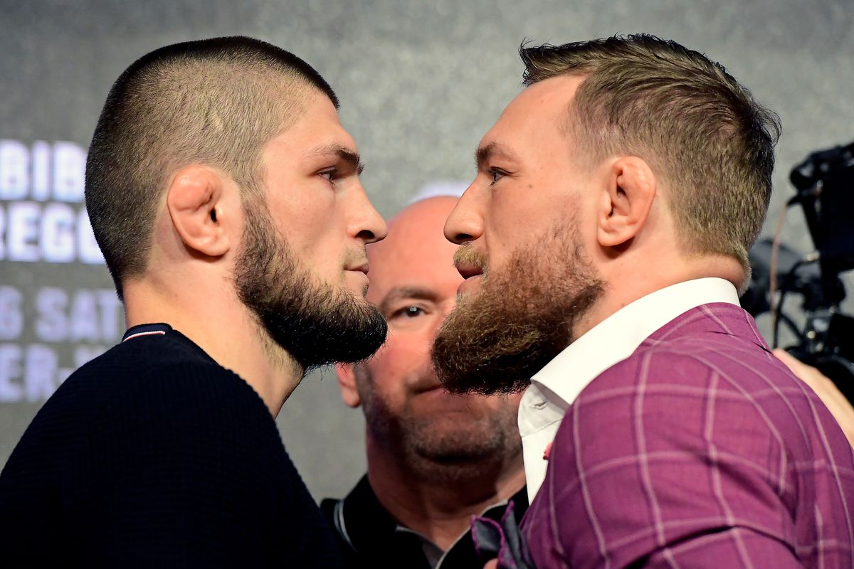 White Khabib Won T Stick Around To Watch Mcgregor At Ufc 257 Will Meet Again In Las Vegas Mmamania Com