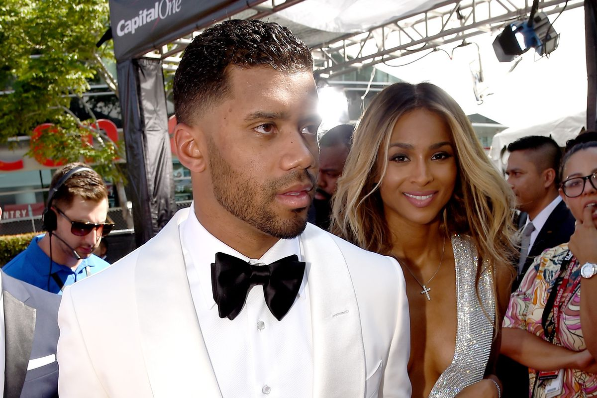 Russell Wilson loves Ciara (right) almost as much as he loves Jesus.