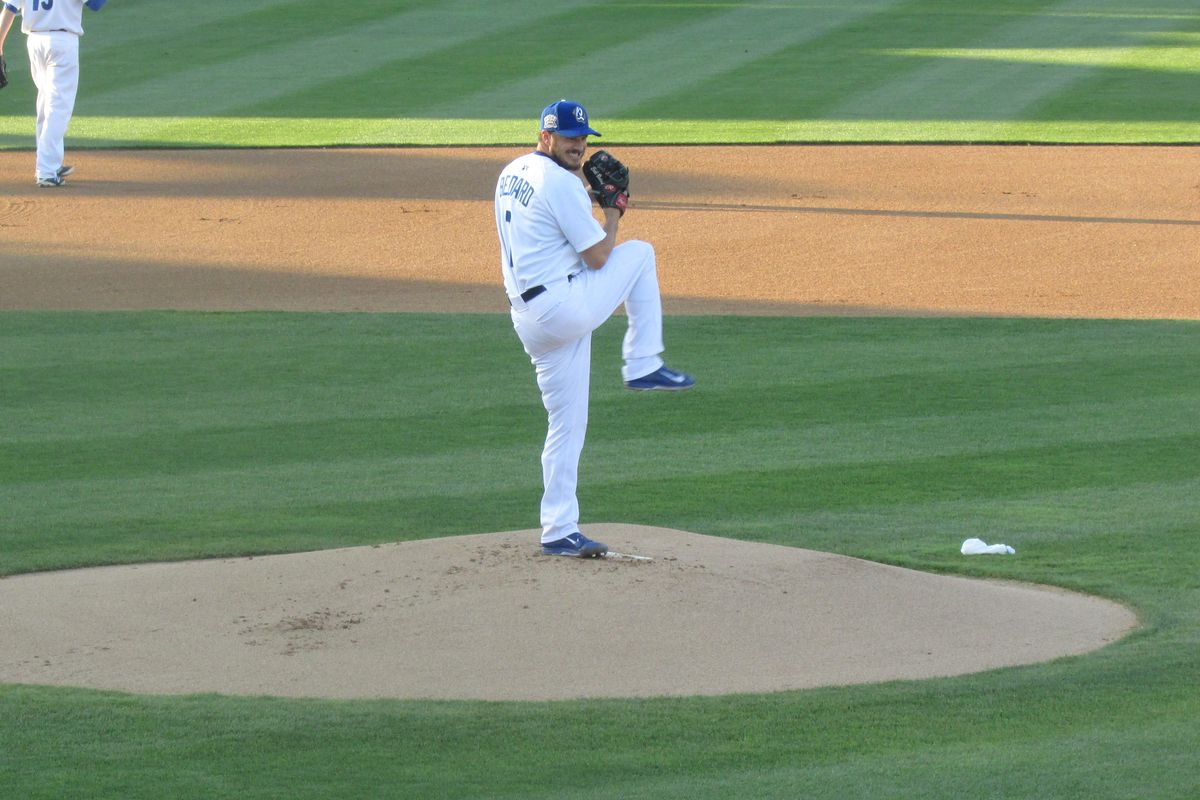 Erik Bedard pitched six innings in his second rehab start on Saturday night for Class-A Rancho Cucamonga.