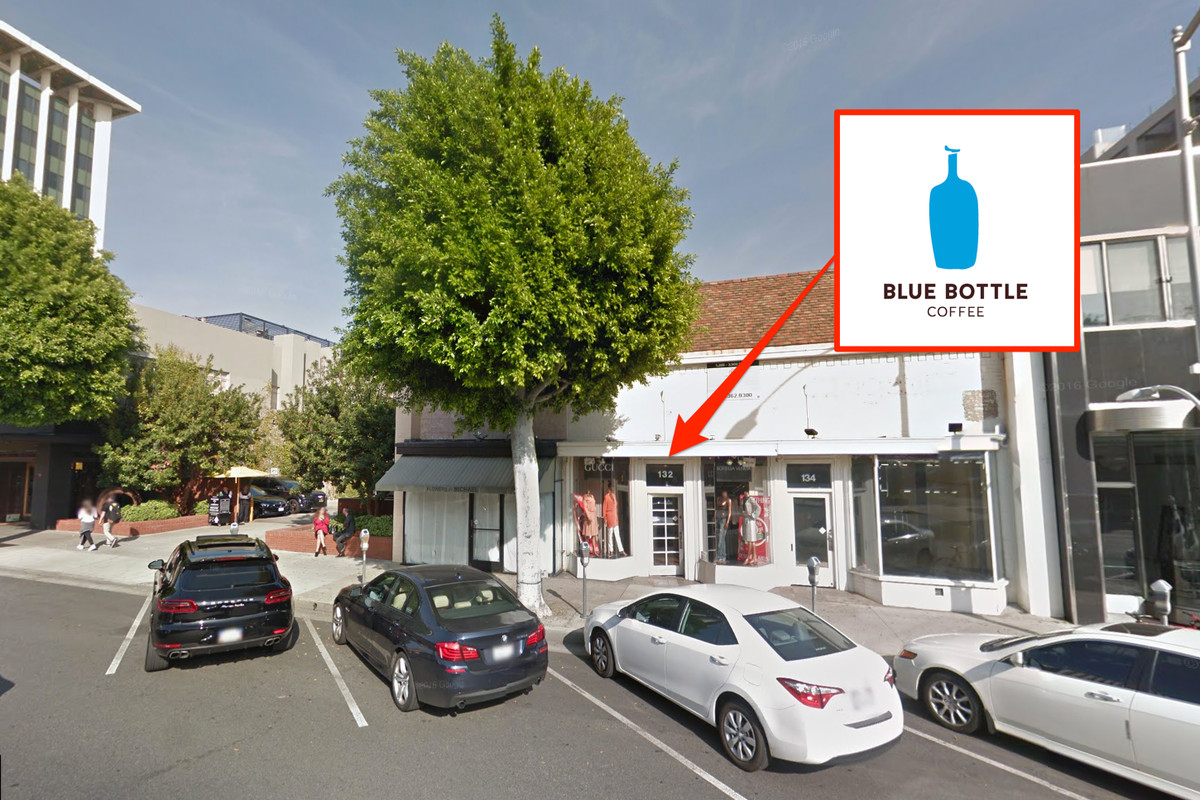 Google Beverly Hills blue bottle coffee blows into beverly hills next - eater la