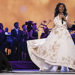 Aretha Franklin performs during the 2017 Tribeca Film Festival, in New York. | Charles Sykes/AP