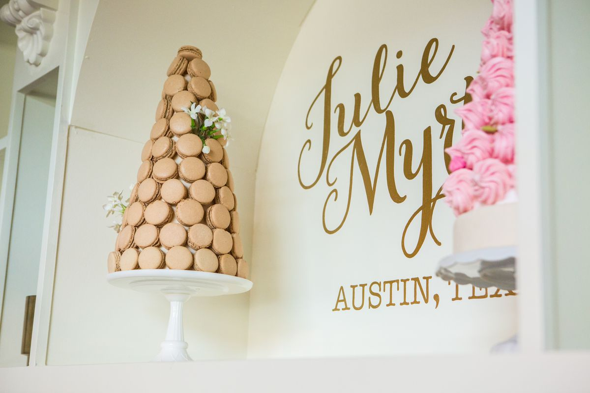 A macaron tree at Julie Myrtille Bakery