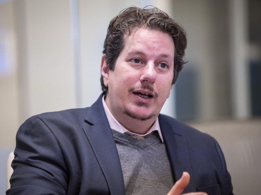 Fifth Ward aldermanic candidate Gabriel Piemonte meets with the Sun-Times Editorial Board in January. File Photo.   Rich Hein/Sun-Times