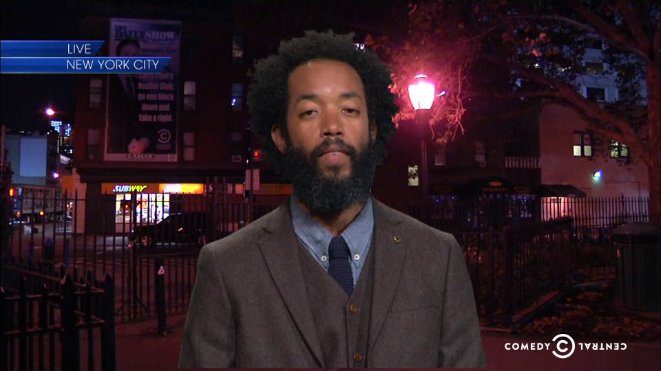 Wyatt Cenac appeared on the final Daily Show.