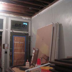 Door in progress, mid-December.