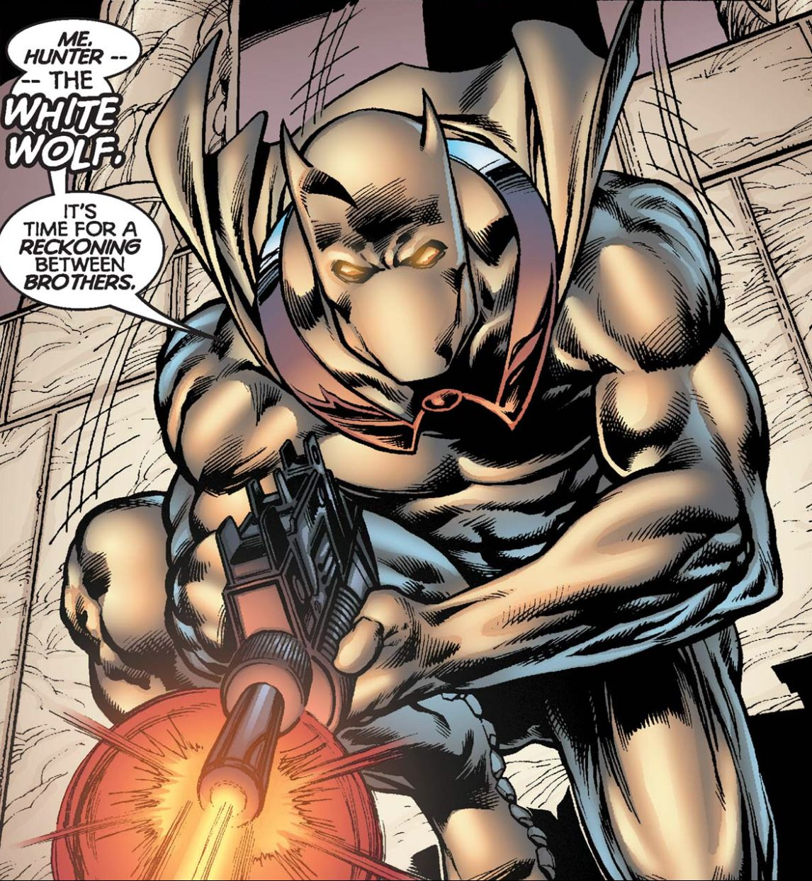 Hunter, the White Wolf, in Black Panther #12, Marvel Comics, 1999.