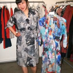 Alice Wu wearing her own line, Feral Childe