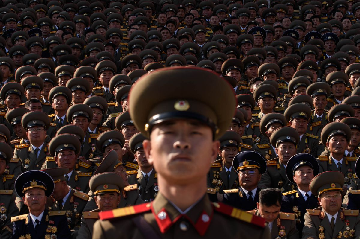 Picture of North Korean soldiers