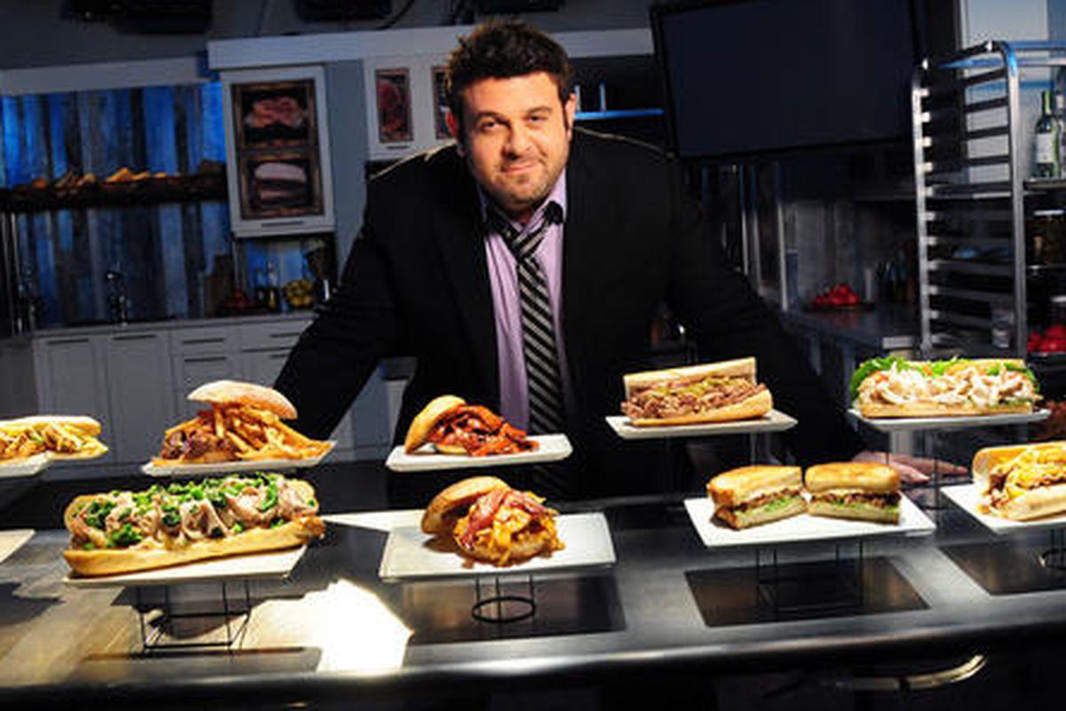 Adam Richman and sandwiches.