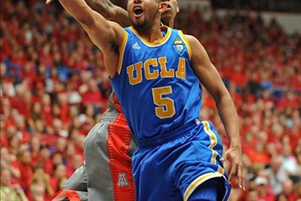 Jerime's shooting was one of the Bruin bright spots today in the desert: Chris Morrison-US PRESSWIRE