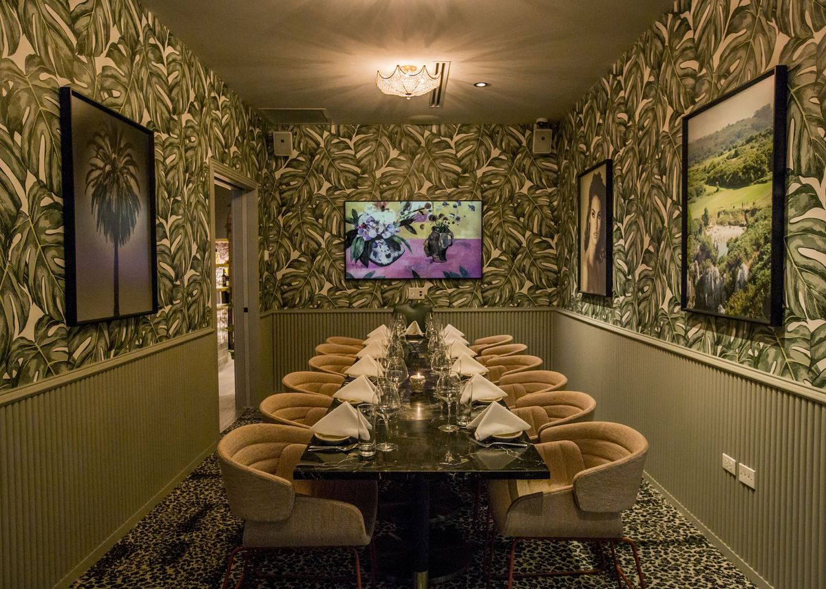 The private dining room at Bar Charles