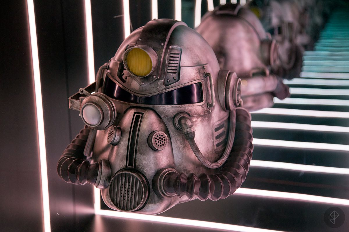 Fallout 76 Power Helmet shown at Bethesda's E3 2018 booth.