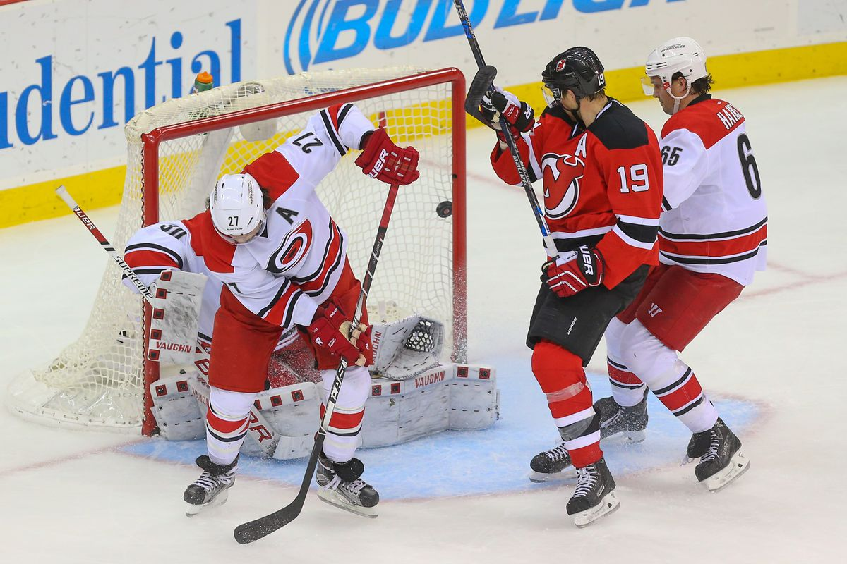 The game winning goal by David Schlemko.  It went through and possibly off Justin Faulk's legs.  No matter, it counted.