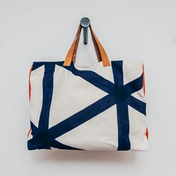 "Katrin Reifeiss Nautical Canvas Tote, <a href=""http://shop.thistleclover.com/collections/handbags/products/katrin-reifeiss-nautical-canvas-tote"">$248</a>"