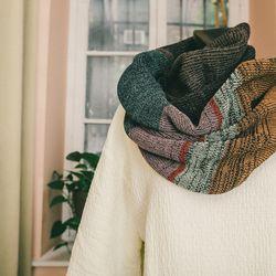 "Boessert Schorn long knit scarf in multicolor melange, <a href=""http://no6store.com/categories/accessories/boessert-schorn-long-knit-scarf-in-multicolor-melange.html"">$280</a>"