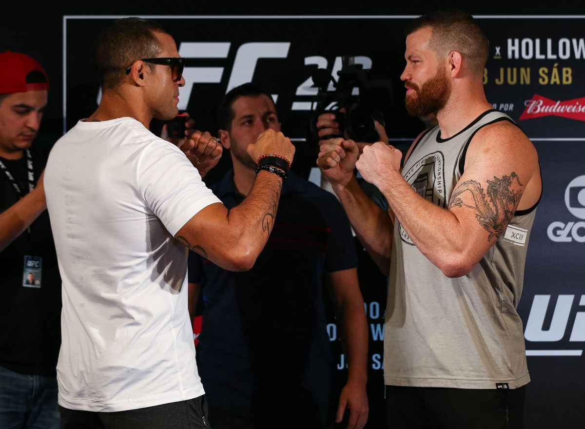 Vitor Belfort and Nate Marquardt (GettyImages)