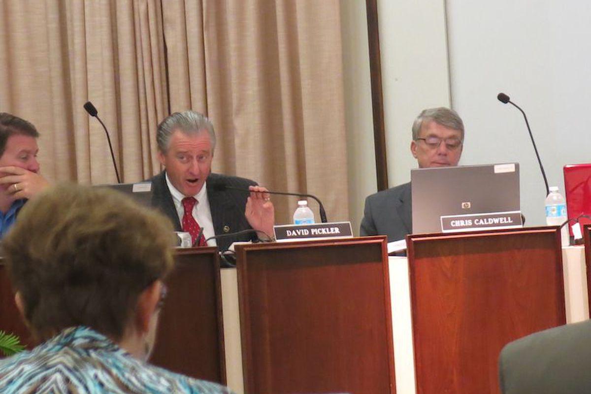 SCS board member David Pickler talks about strengthening district's equipment tracking system.