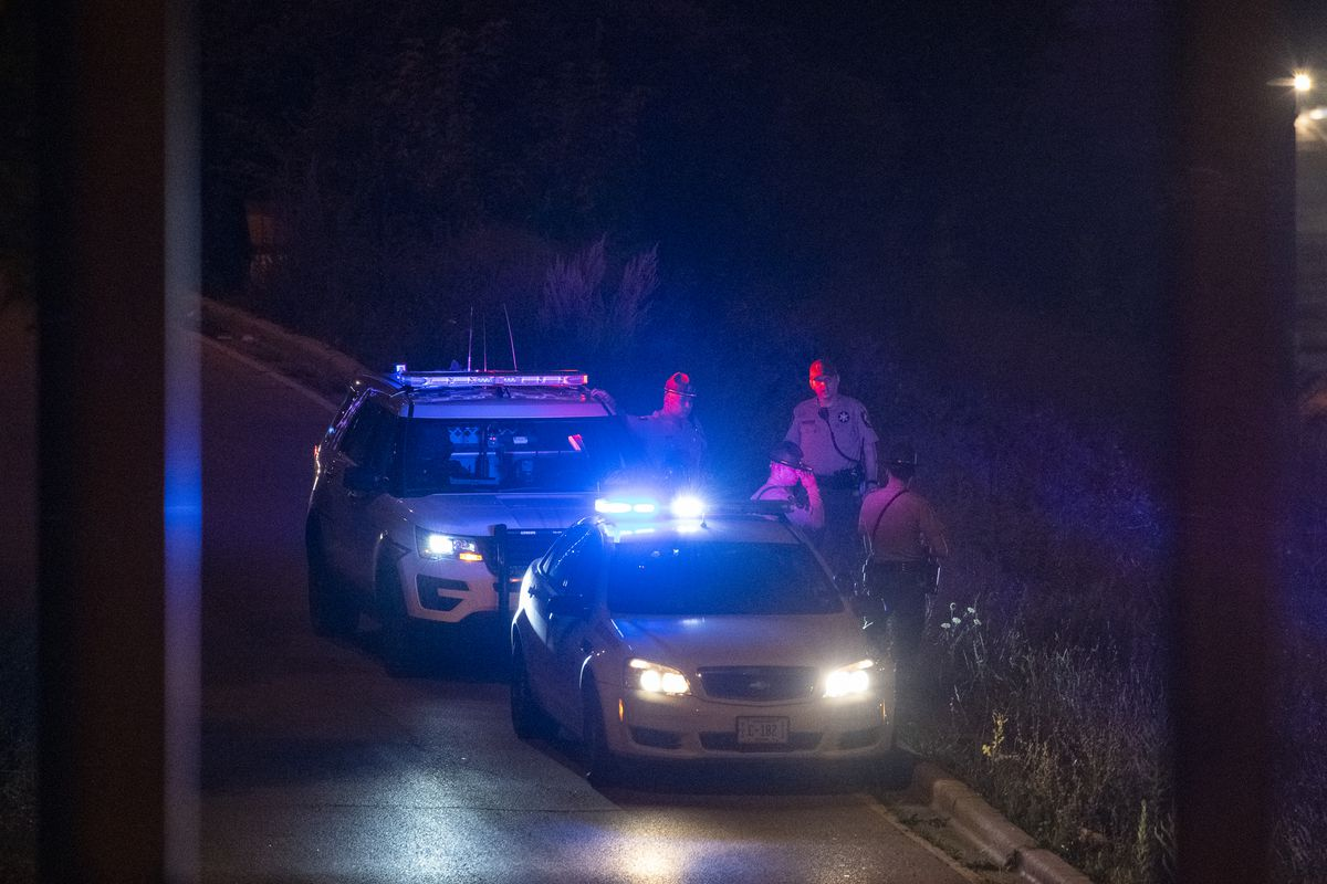 Illinois State Police work the scene where 3 people were shot, 1 fatally on I-290 near South Ashland Ave, Friday, Aug. 13, 2021.