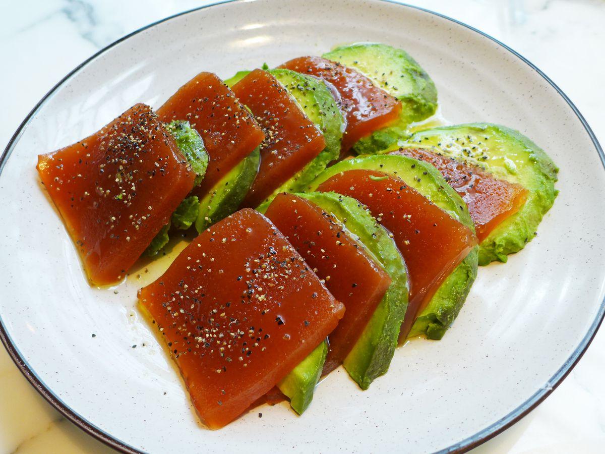 Hawthorn jelly and avocado