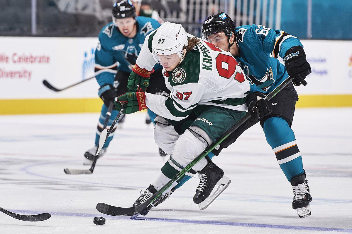 NHL: MAR 31 Wild at Sharks