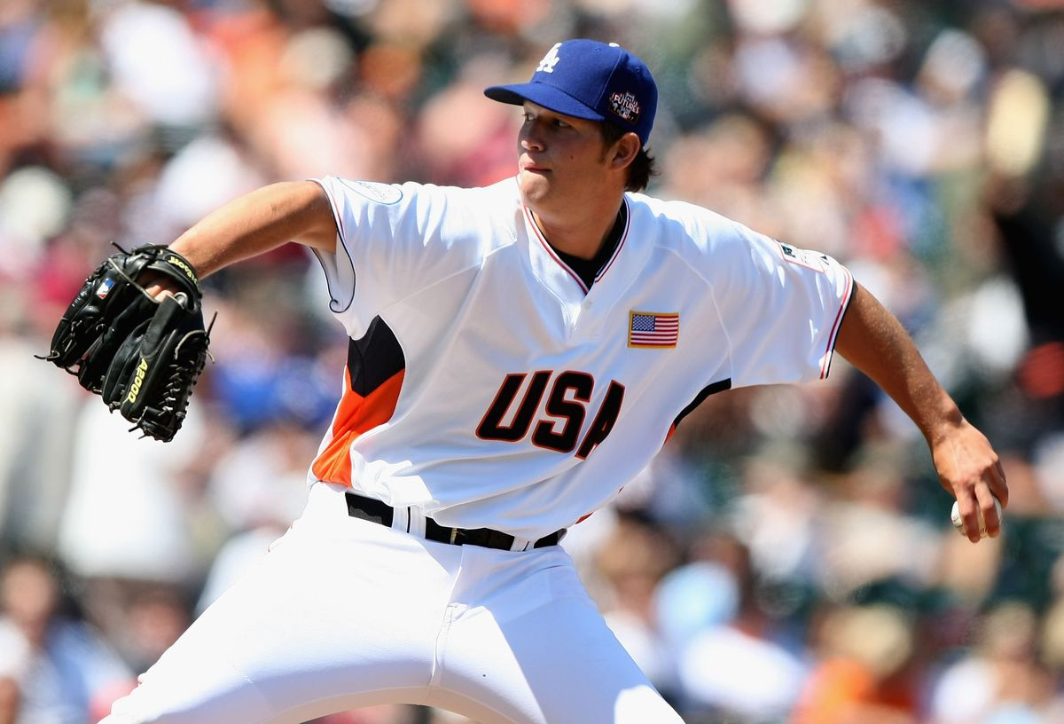 Clayton Kershaw in the XM Satellite Radio All-Star Futures Game in 2007