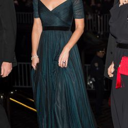 In a Jenny Packham gown for St. Andrews 600th Anniversary Dinner on December 9th, 2014 in New York City.