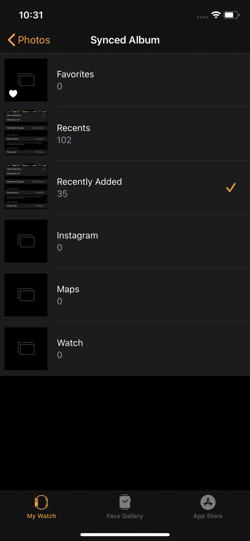 Screenshots on the Apple Watch