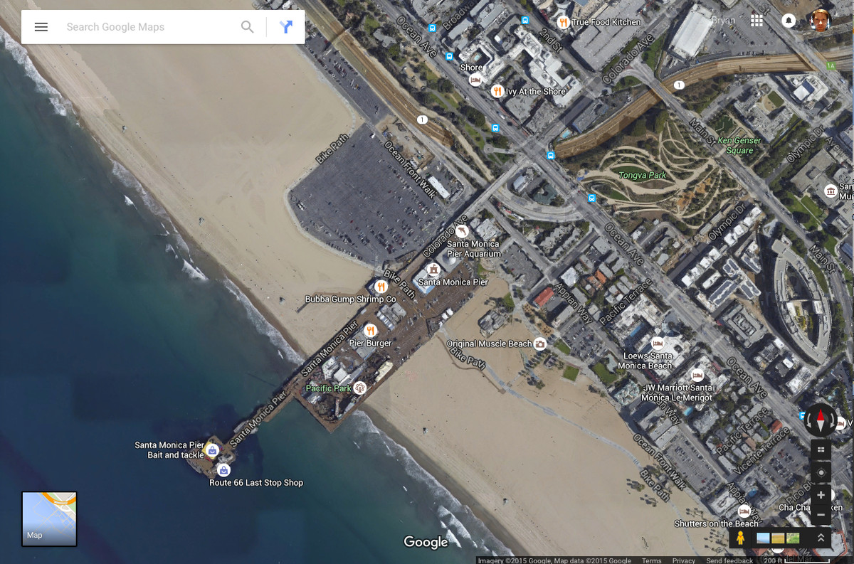 Google thinks los angeles is underwater the verge twitter users here and there who have picked up on the weirdness think google could be making a statement on climate change indicating sea level changes gumiabroncs Image collections
