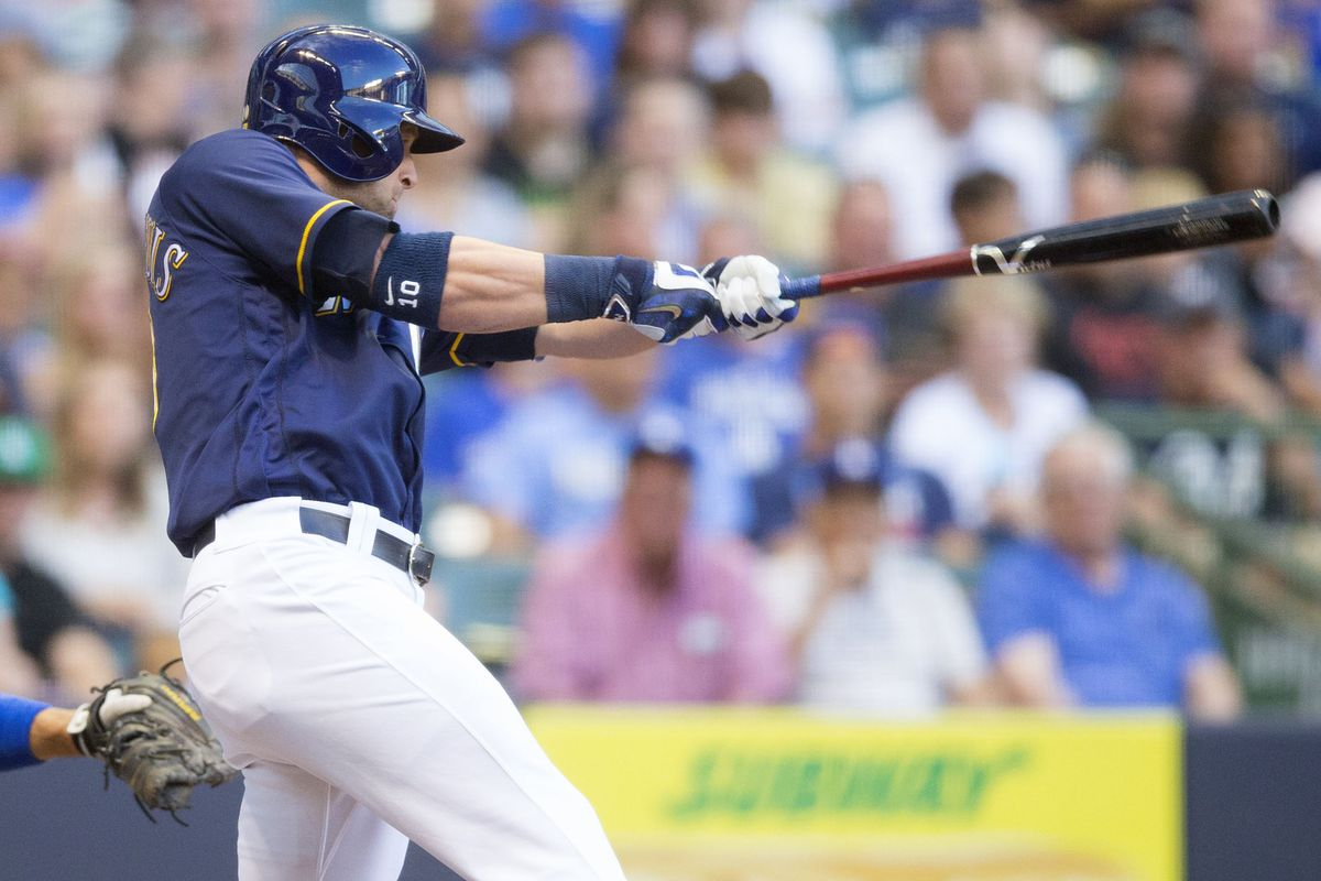Kirk Nieuwenhuis narrowly missed a game tying grand slam in the 9th