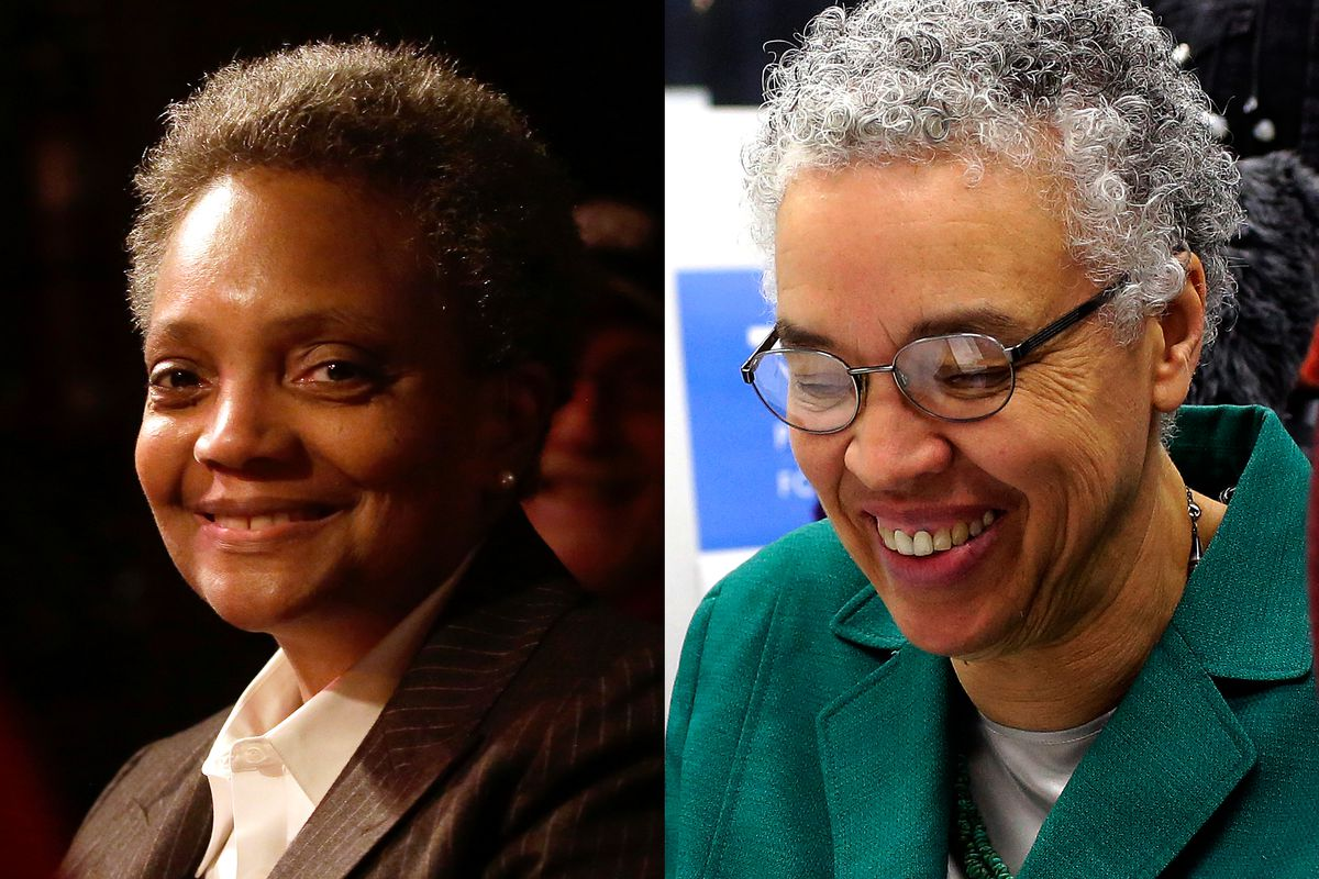 Lori Lightfoot and Toni Preckwinkle, candidates for Chicago mayor.