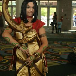 Aspen Fielde of Salt Lake City was one of many Comic Con goers to participate in cosplay, or costume play. With more than 50,000 tickets sold, Comic Con goers filled the convention halls to the max during the final day of the convention.