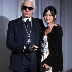 Karl Lagerfeld attends the red carpet premiere of the Magnum Ice Cream Film Series during the Tribeca Film Festival at IAC Building on April 21, 2011 in New York City.