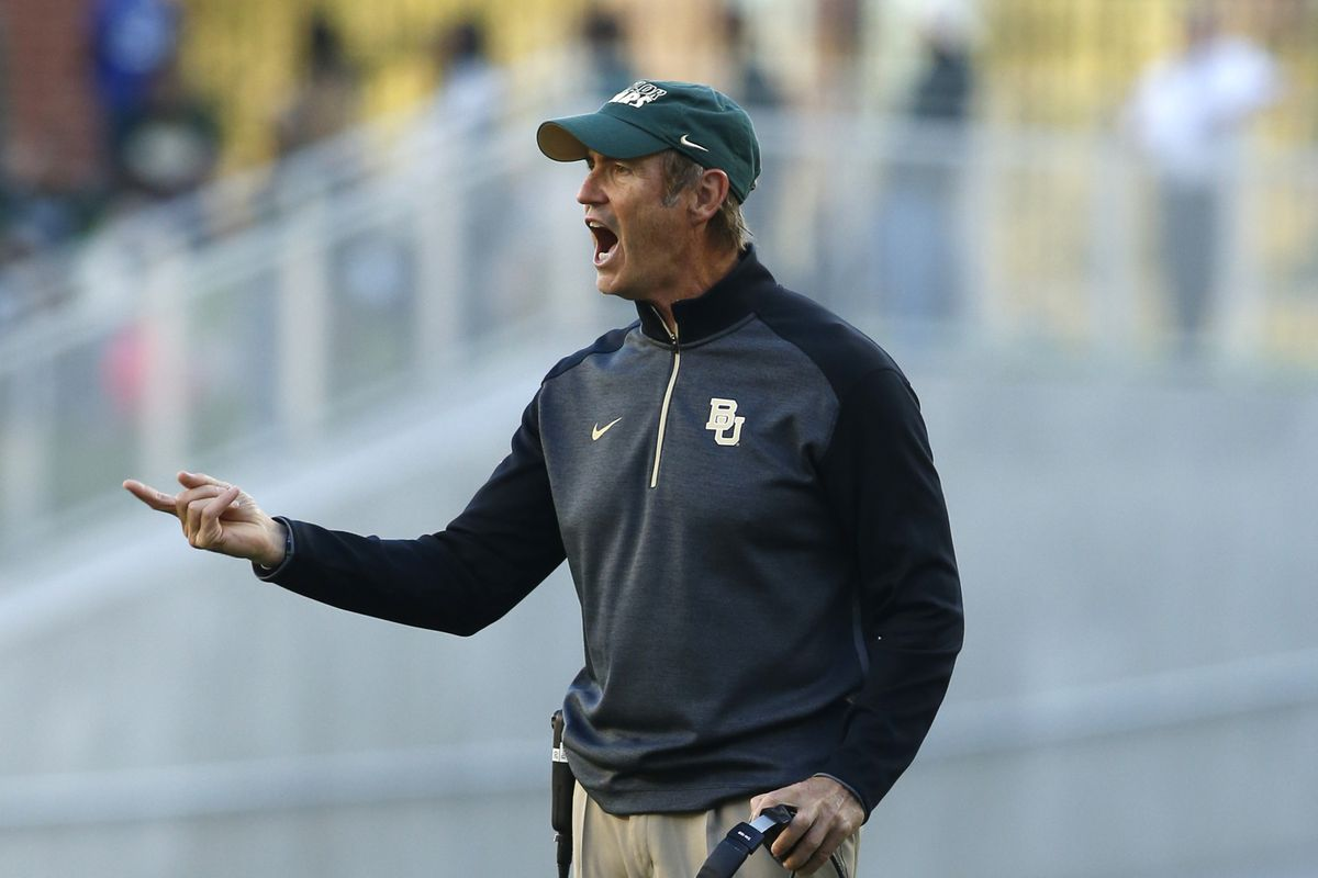 Art Briles expresses his displeasure with Time Warner Cable.