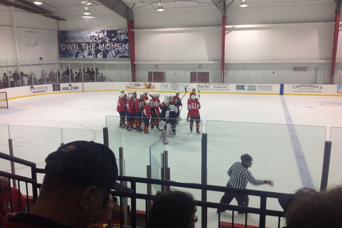 Team Red, victors of the intra-squad scrimmage.