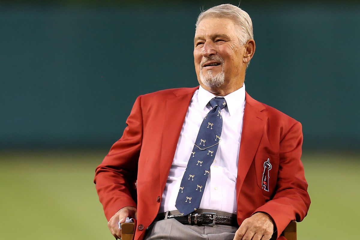 ...at his induction into the Angels Hall of Fame...