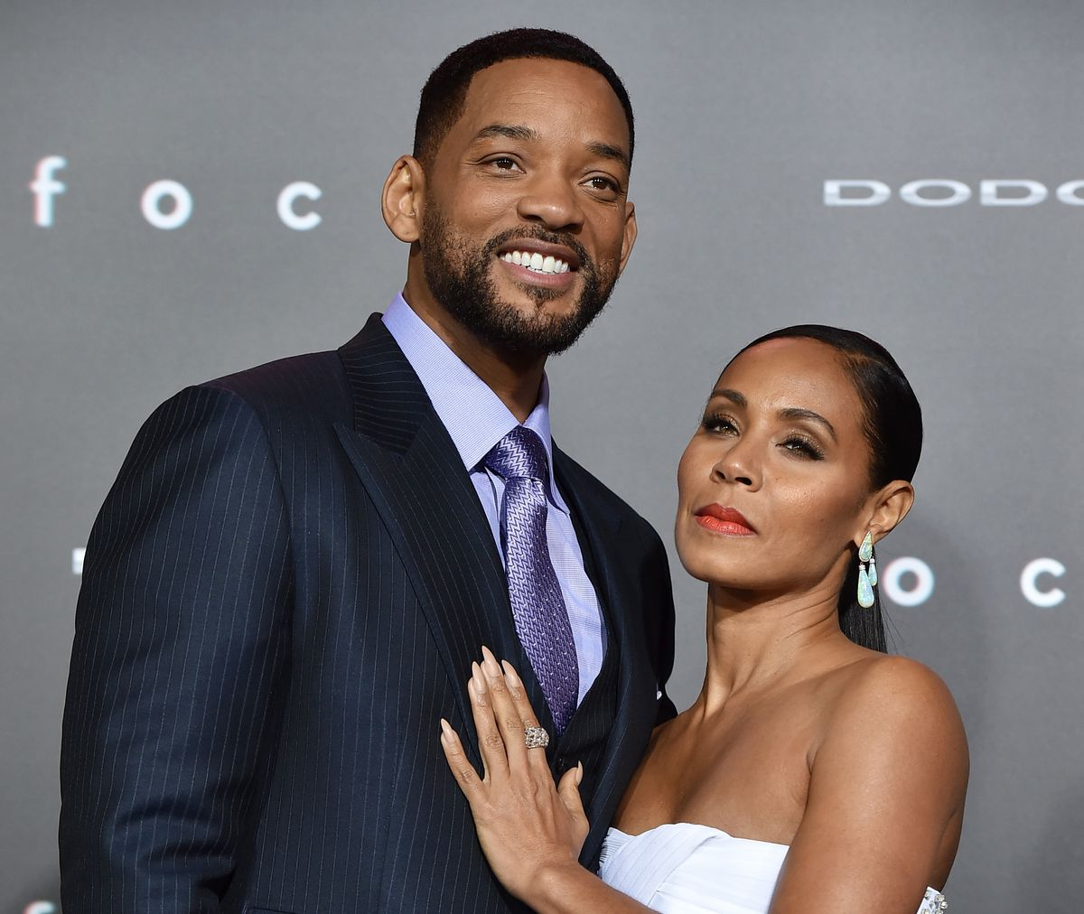 Will and Jada Pinkett-Smith at the 'Focus' premiere